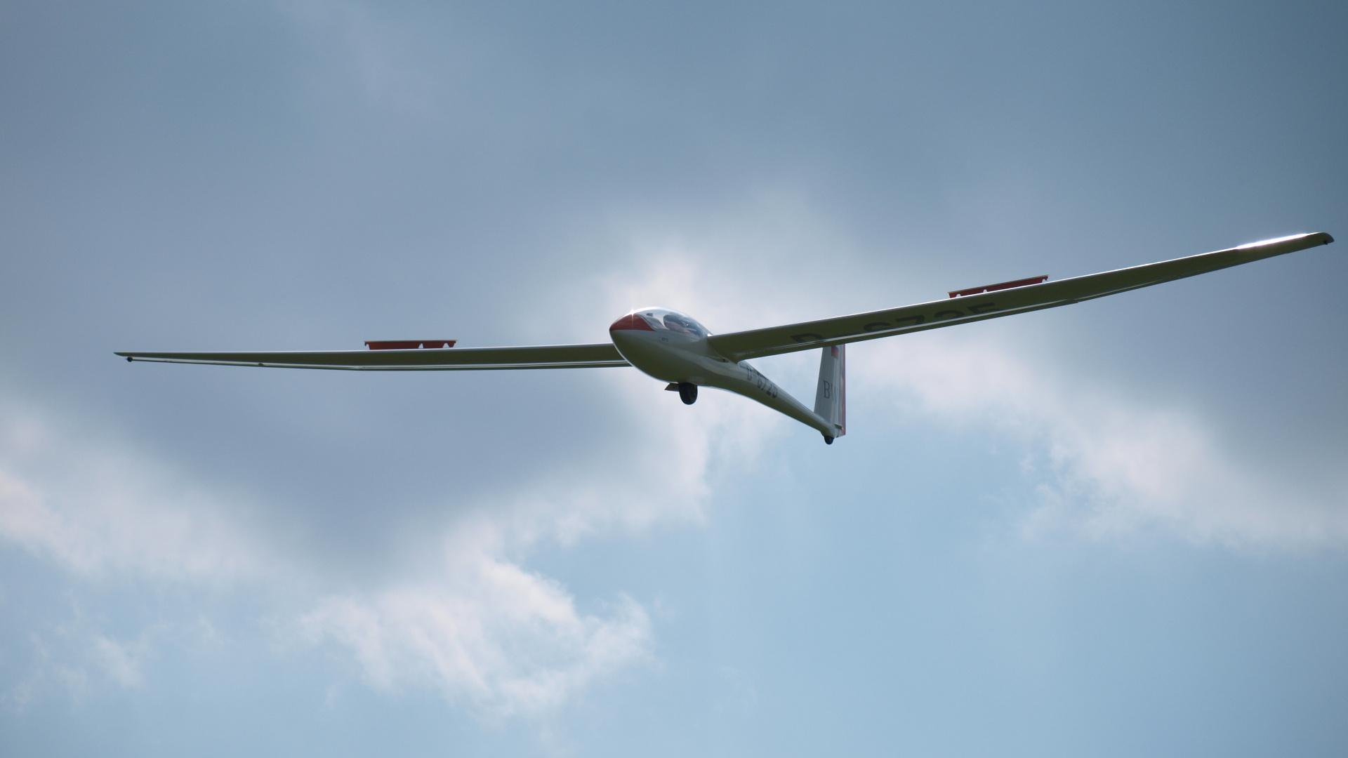 Landeanflug Segelflugzeug