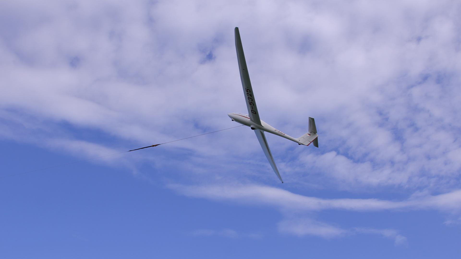 Start Segelflugzeug